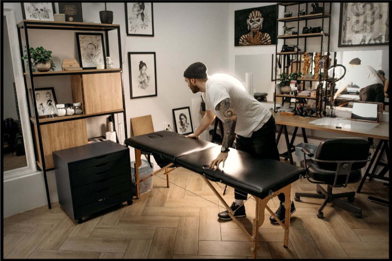 needle, machine, art